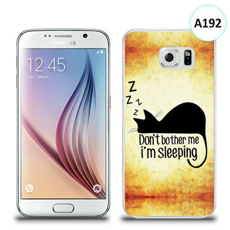 Etui silikonowe z nadrukiem Samsung Galaxy S6 - don't bother me i'm sleeping