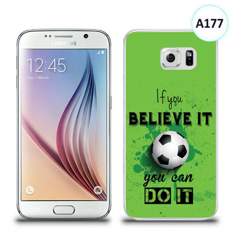Etui silikonowe z nadrukiem Samsung Galaxy S6 - if you believe it you can do it