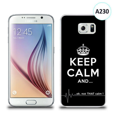 Etui silikonowe z nadrukiem Samsung Galaxy S6 - keep calm and...