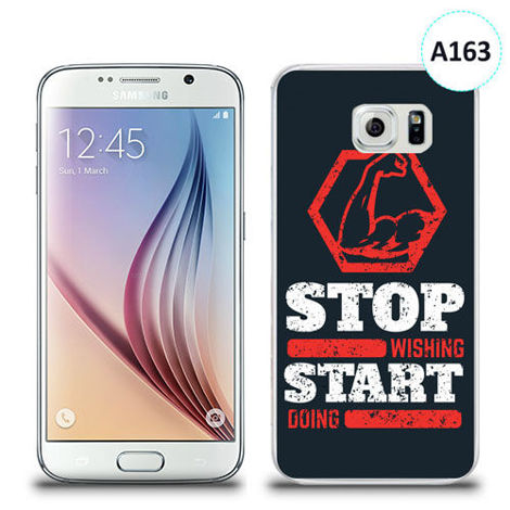 Etui silikonowe z nadrukiem Samsung Galaxy S6 - stop wishing start doing