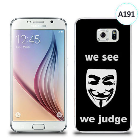 Etui silikonowe z nadrukiem Samsung Galaxy S6 - we see we judge