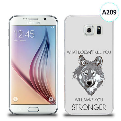 Etui silikonowe z nadrukiem Samsung Galaxy S6 - will make you stronger