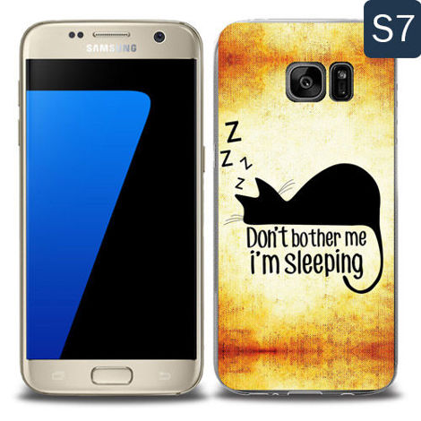 Etui silikonowe z nadrukiem Samsung Galaxy S7- don't bother me i'm sleeping