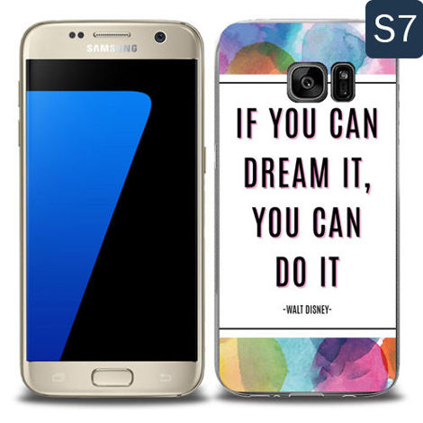 Etui silikonowe z nadrukiem Samsung Galaxy S7- if you can dream it you can do it