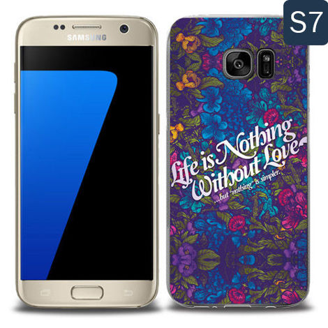 Etui silikonowe z nadrukiem Samsung Galaxy S7- llife is nothing without love