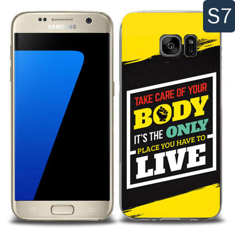 Etui silikonowe z nadrukiem Samsung Galaxy S7- take care of your body