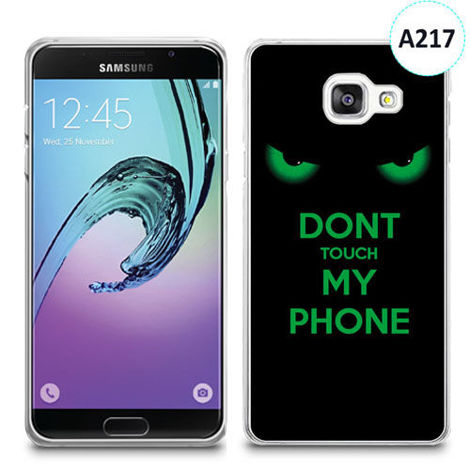 Etui silikonowe z nadrukiem Samsunga Galaxy A3 2016 - don't touch my phone eyes