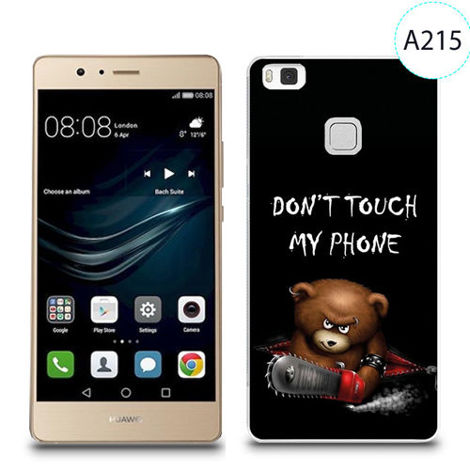 Etui silikonowe z nadrukiem do Huawei P9 lite - don't touch my phone bear