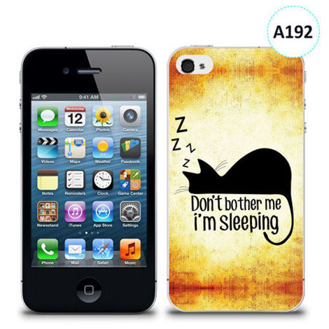 Etui silikonowe z nadrukiem iPhone 4/4S - don't bother me i'm sleeping