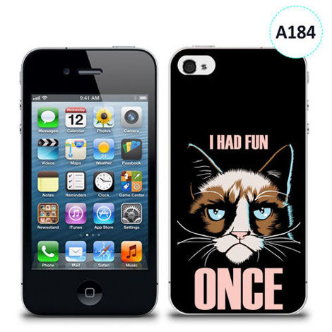 Etui silikonowe z nadrukiem iPhone 4/4S - i had fun once