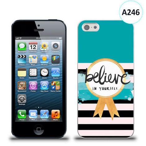Etui silikonowe z nadrukiem iPhone 5/5s/se - believe in yourself