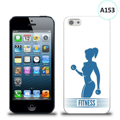 Etui silikonowe z nadrukiem iPhone 5/5s/se - fitness gym