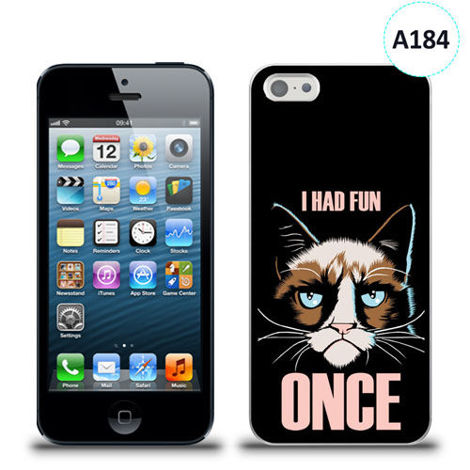 Etui silikonowe z nadrukiem iPhone 5/5s/se - i had fun once