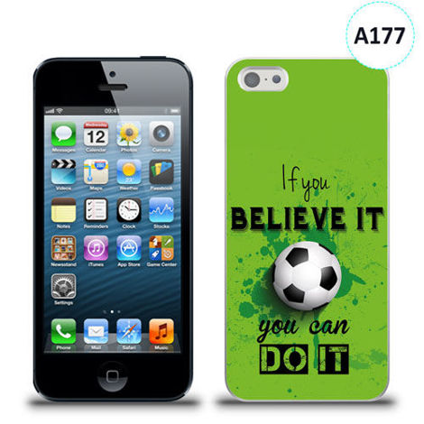 Etui silikonowe z nadrukiem iPhone 5/5s/se - if you believe it you can do it