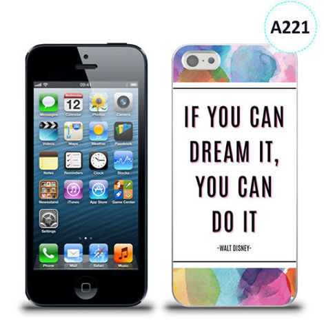 Etui silikonowe z nadrukiem iPhone 5/5s/se - if you can dream it you can do it