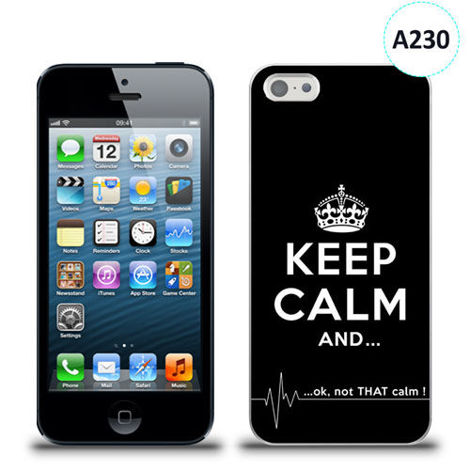 Etui silikonowe z nadrukiem iPhone 5/5s/se - keep calm and...