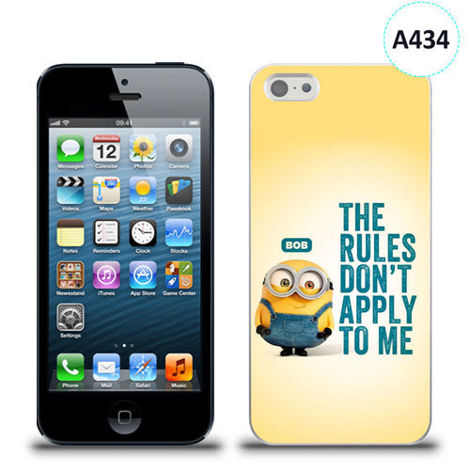 Etui silikonowe z nadrukiem iPhone 5/5s/se - minion the rules don't apply to me