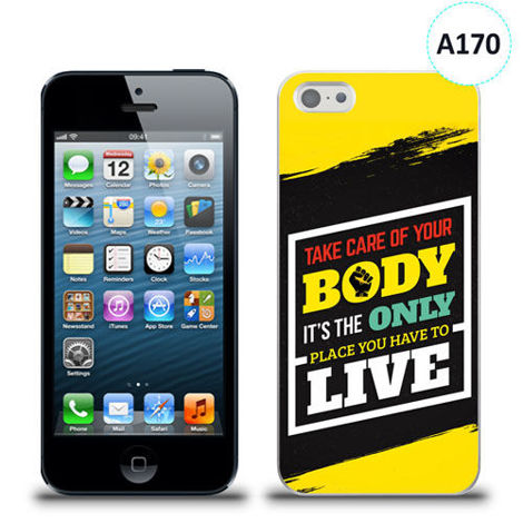 Etui silikonowe z nadrukiem iPhone 5/5s/se - take care of your body
