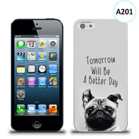 Etui silikonowe z nadrukiem iPhone 5/5s/se - tomorrow will be a better day