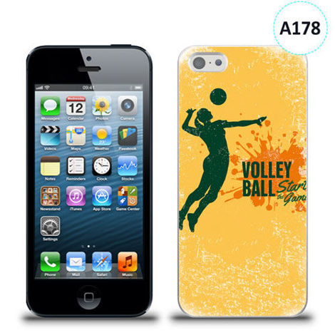 Etui silikonowe z nadrukiem iPhone 5/5s/se - volleyball