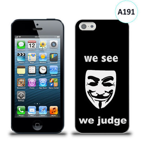Etui silikonowe z nadrukiem iPhone 5/5s/se - we see we judge