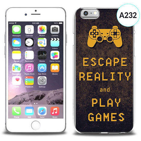 Etui silikonowe z nadrukiem iPhone 6 - escape reality and play games