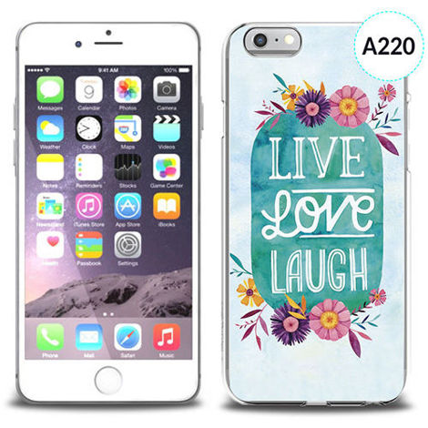Etui silikonowe z nadrukiem iPhone 6 - live love laugh