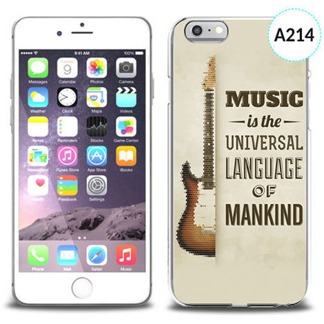 Etui silikonowe z nadrukiem iPhone 6 -music is the universal language of mankind