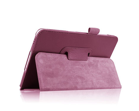 Etui skórzane PU Stand Cover Galaxy Tab s2 8.0 T710 T715 Fioletowe