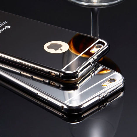 Oryginalne KXX etui BUMPER PLECKI  mirror do Apple iPhone 6 6S SREBRNE