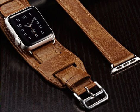 Pasek skórzany Icarer 3w1 do Apple Watch 38mm Brown