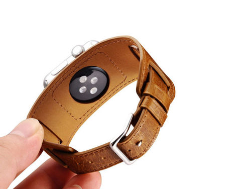 Pasek skórzany Icarer 3w1 do Apple Watch Orange 42mm