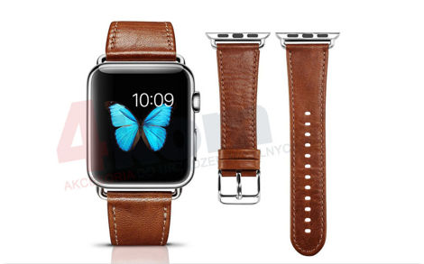 Pasek skórzany Icarer Vintage do Apple Watch 38mm Brown
