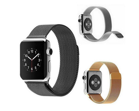 Pasek stalowy Milanese Loop Apple Watch 42mm srebrny