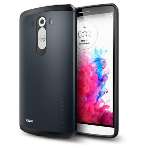 SPIGEN etui Slim Armor Metal Slate do LG G3