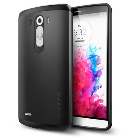 SPIGEN etui Slim Armor Smooth Black do LG G3