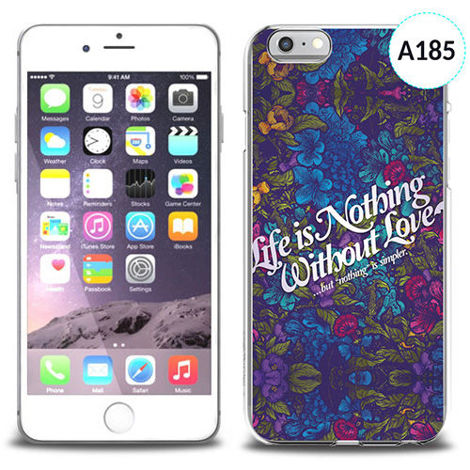 Unikalne etui silikon na telefon z nadrukiem do iPhone 6 - life is nothing without love
