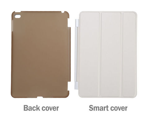 Zestaw 2w1 Etui Smart Cover + Back Cover do Apple iPad mini 4 BIAŁE