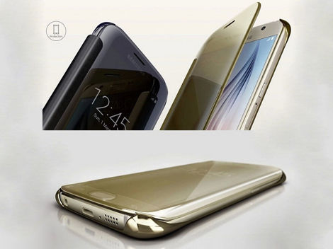 etui clear view cover samsung galaxy s7 edge czarne