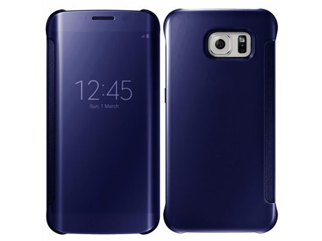 etui clear view cover samsung galaxy s7 edge granatowe
