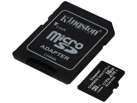 Kingston karta microSDHC 16GB klasa 10 + adapter
