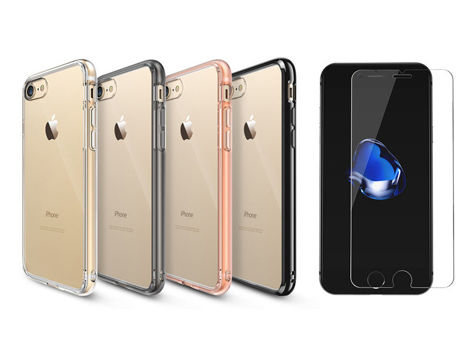 Etui Ringke Fusion iPhone 7 Rose Gold + Szkło