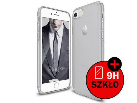 Etui Ringke Slim Apple iPhone 7 Frost Gray + Szkło