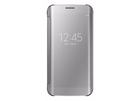 etui clear view cover samsung galaxy s7 edge srebrne