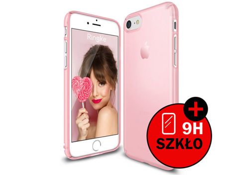 Etui Ringke Slim Apple iPhone 7 Frost Pink + Szkło