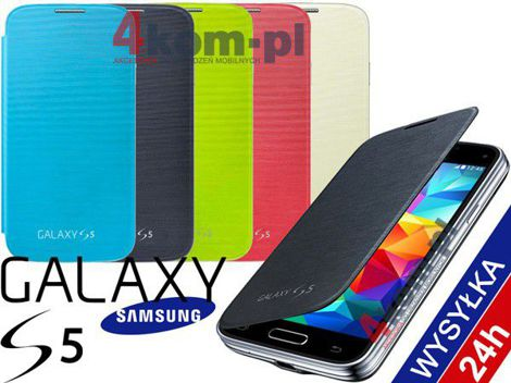 Etui flip cover do Samsung Galaxy S5 Czarne