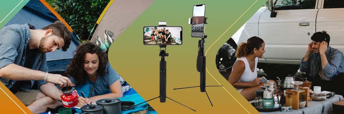 Selfie stick Alogy Tripod stabilizator uchwyt do telefonu Bluetooth led