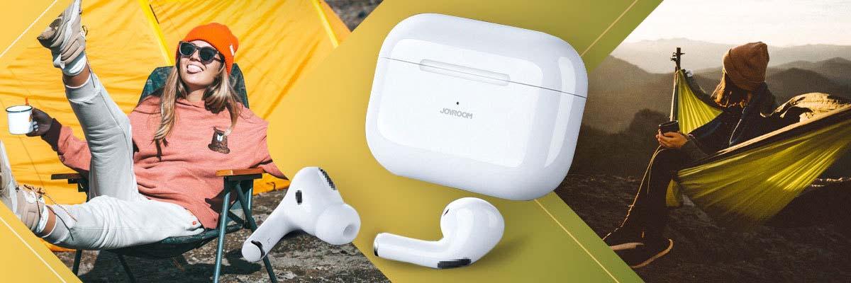 Słuchawki JOYROOM JR-T03S Pro ANC TWS Bluetooth 5.0 ze stacją White