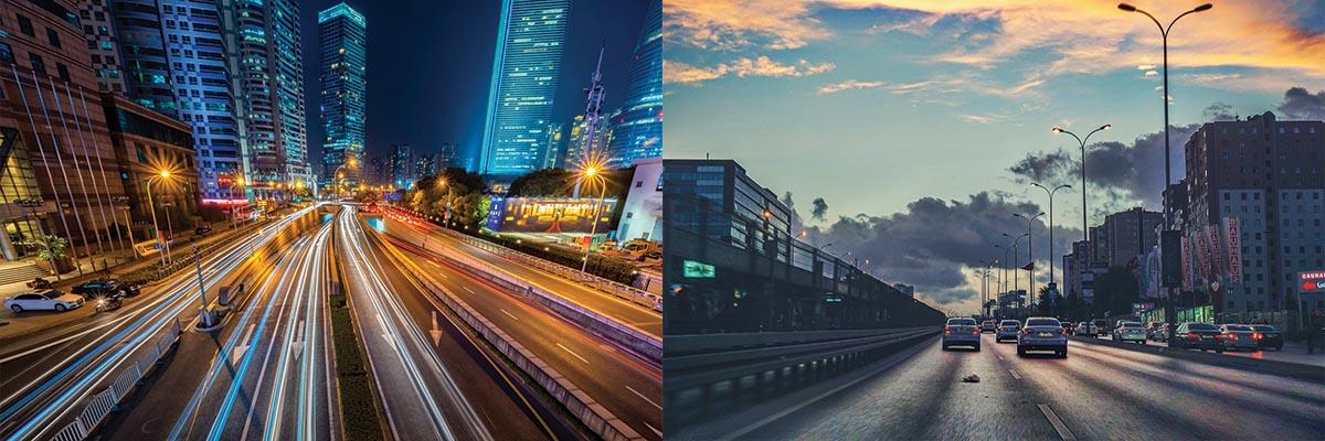autonomiczne samochody samochód bez kierowcy droga inteligentne miasto