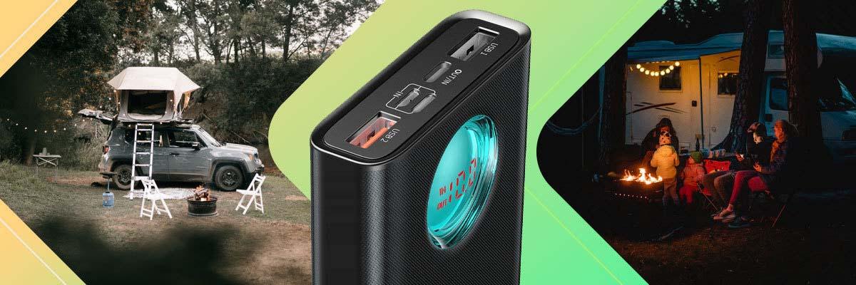 Powerbank 20000mAh z wyświetlaczem Baseus 2x